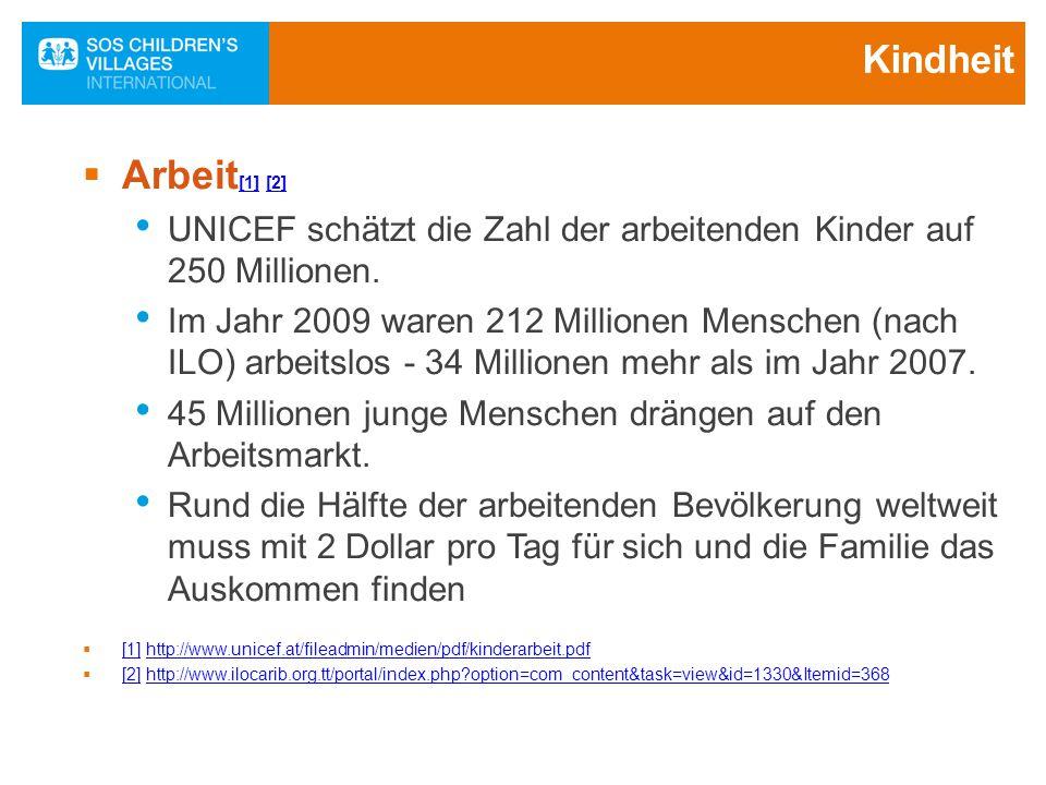 Kindheit Arbeit[1] [2] UNICEF schätzt die Zahl der arbeitenden Kinder auf 250 Millionen.